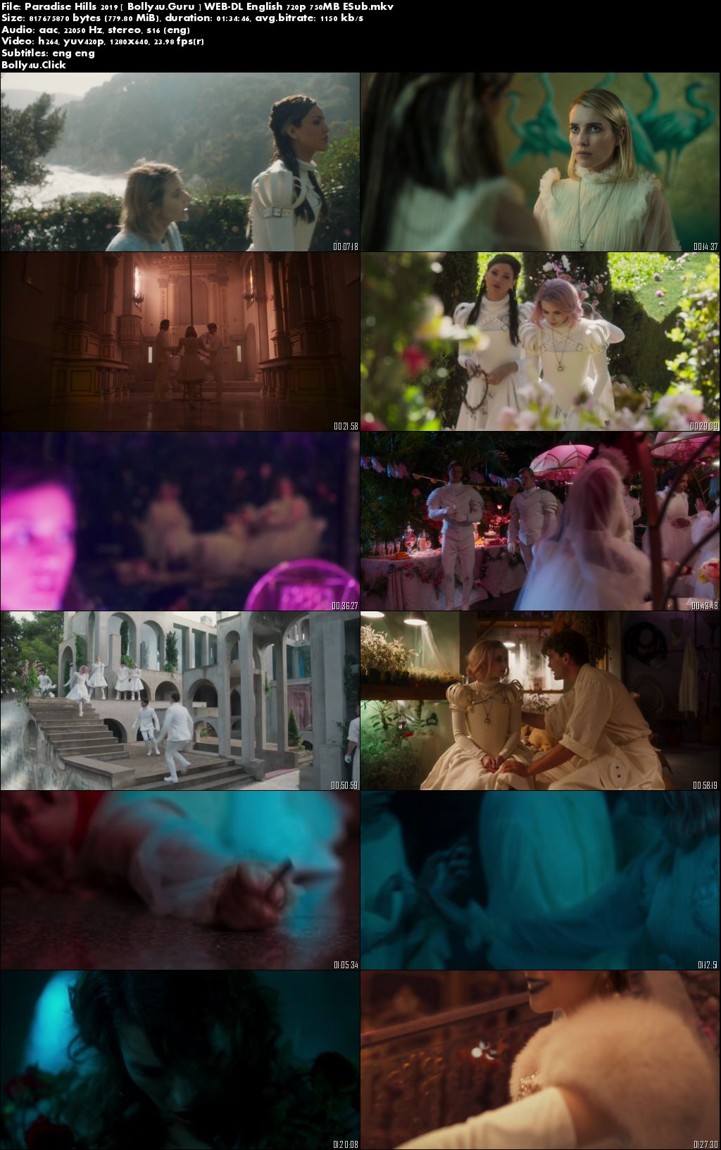 Paradise Hills 2019 WEB-DL 750MB English 720p ESub Download