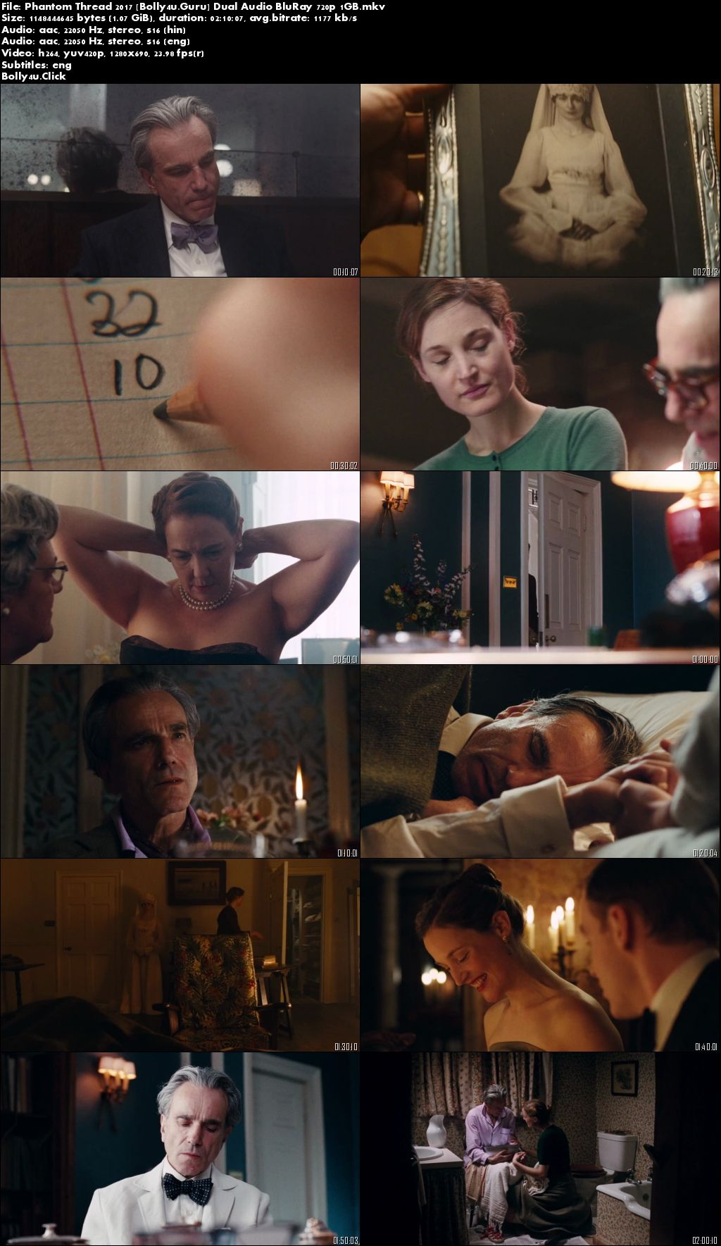Phantom Thread 2017 BluRay 1GB Hindi Dual Audio 720p Download