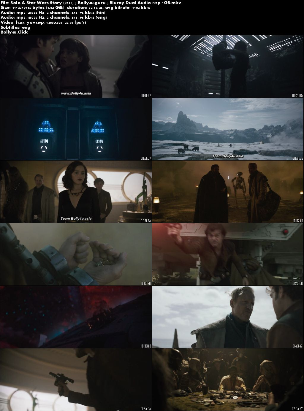 Solo A Star Wars Story 2018 BluRay 1GB Hindi Dual Audio 720p Download