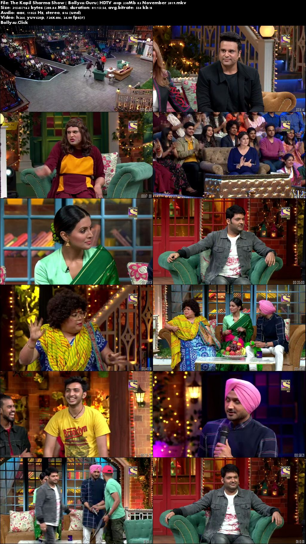The Kapil Sharma Show HDTV 480p 250Mb 03 November 2019 Download
