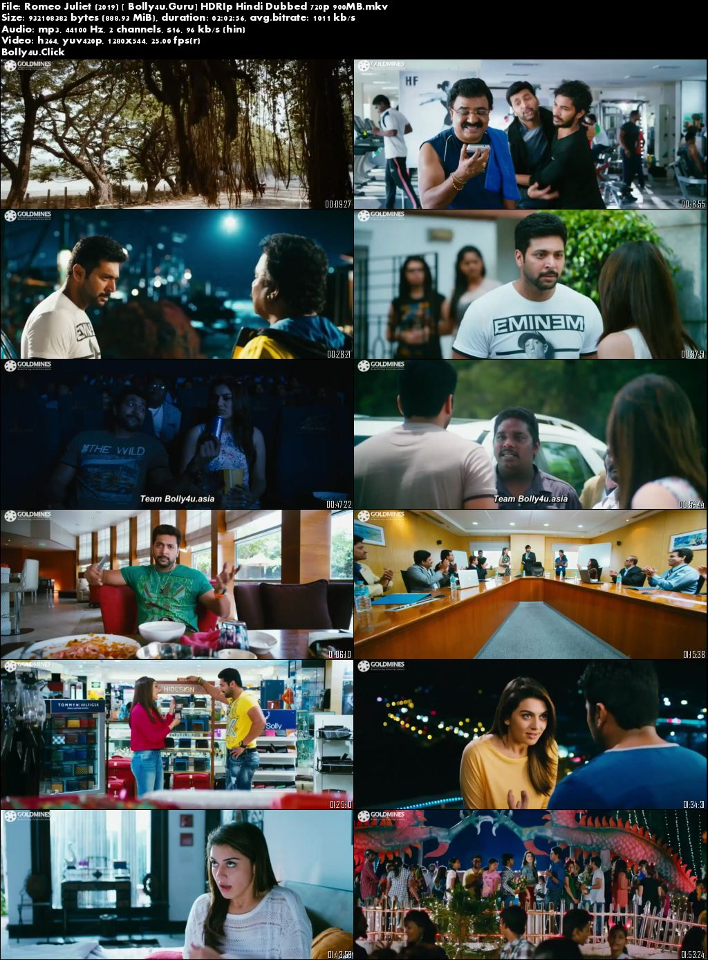 Romeo Juliet 2019 HDRip 900MB Hindi Dubbed 720p Download
