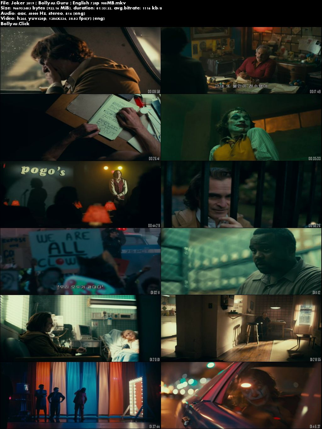 Joker 2019 HDRip 900Mb English 720p Download