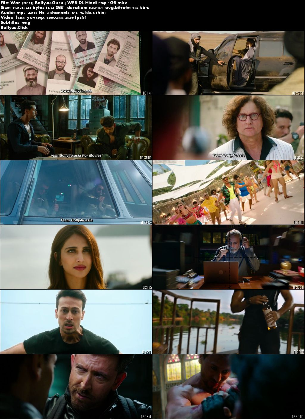 War 2019 WEB-DL 1GB Full Hindi Movie Download 720p