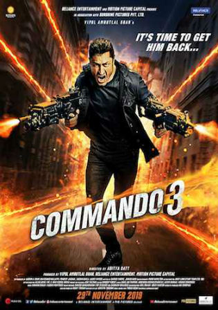 Commando 3 2019 Pre DVDRip 300MB Full Hindi Movie Download 480p Watch Online Free bolly4u