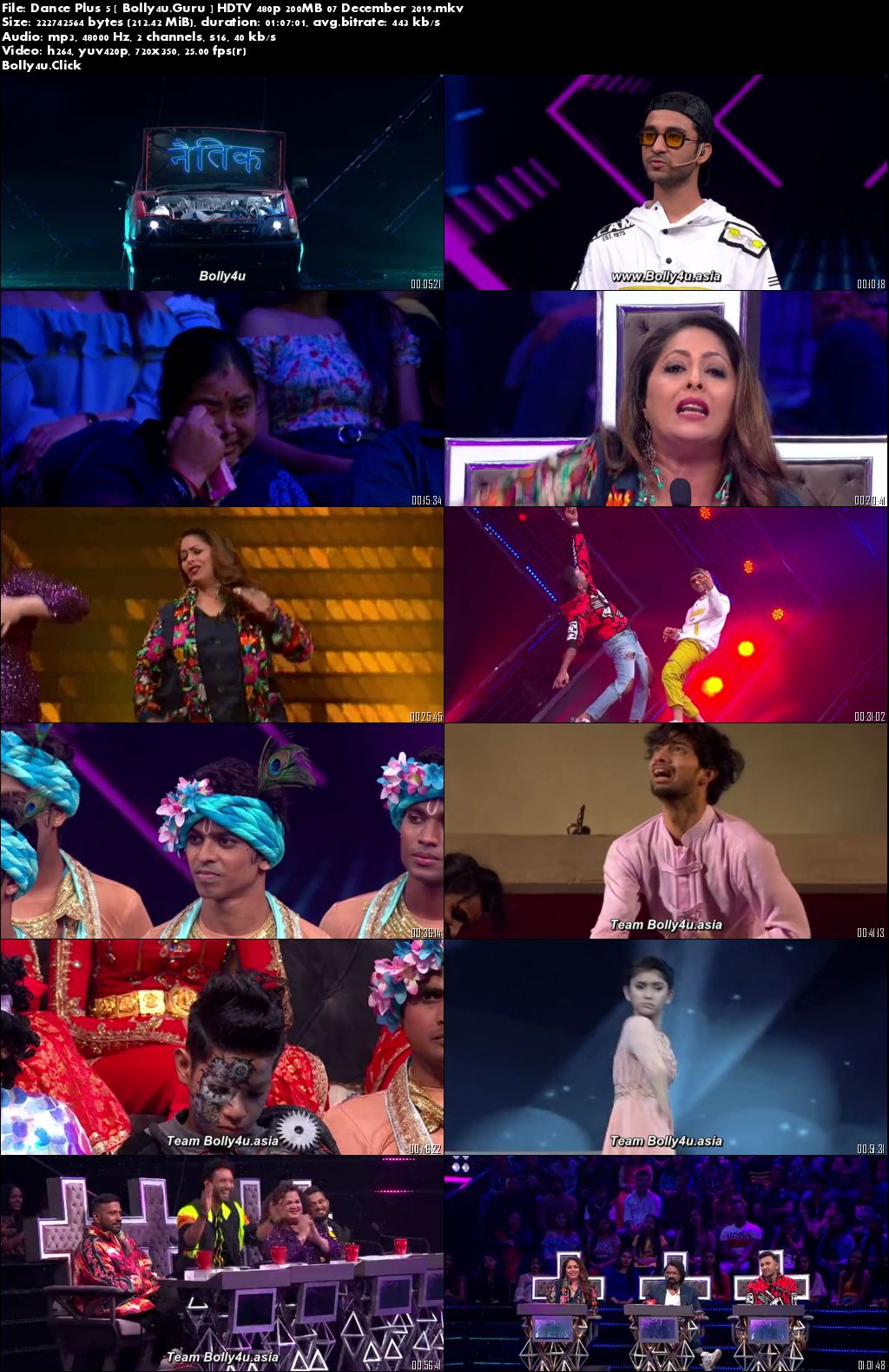 Dance Plus 5 HDTV 480p 200MB 07 December 2019 Download
