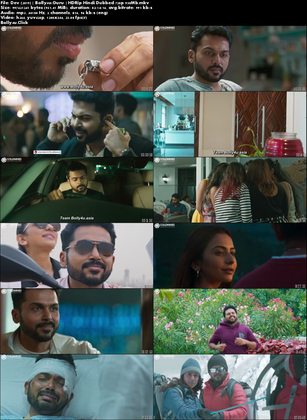 Dev 2019 HDRip 400Mb Hindi Dubbed 480p Download