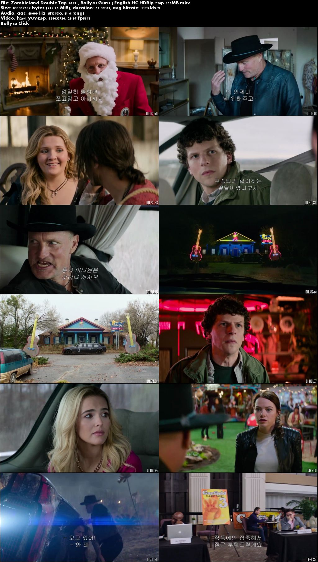 Zombieland Double Tap 2019 HC HDRip 800Mb English 720p Download