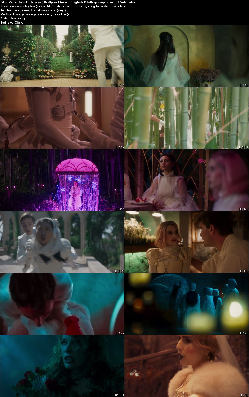 Paradise Hills 2019 BRRip 300Mb English 480p ESub download