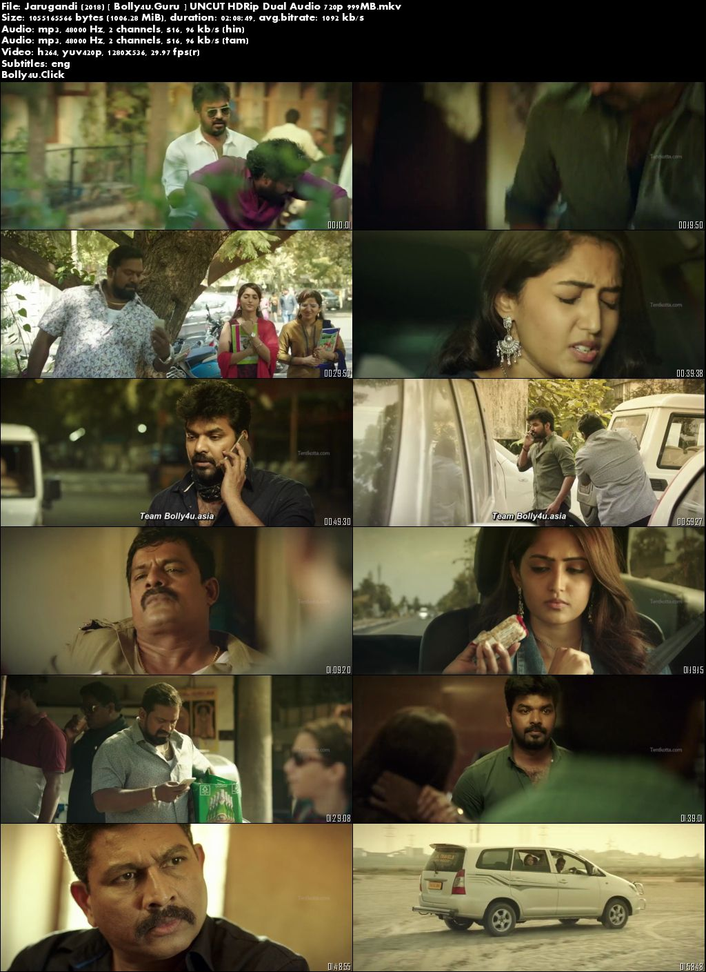 Jarugandi 2018 HDRip 400MB UNCUT Hindi Dual Audio 480p Download