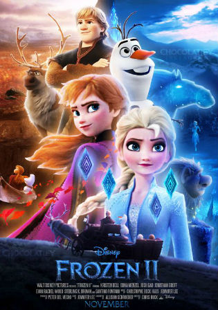 Frozen II 2019 Pre DVDRip 800MB Hindi Dual Audio 720p