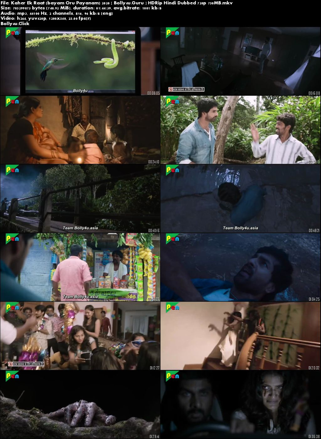 Kaher Ek Raat 2020 HDRip 300MB Hindi Dubbed 480p Download