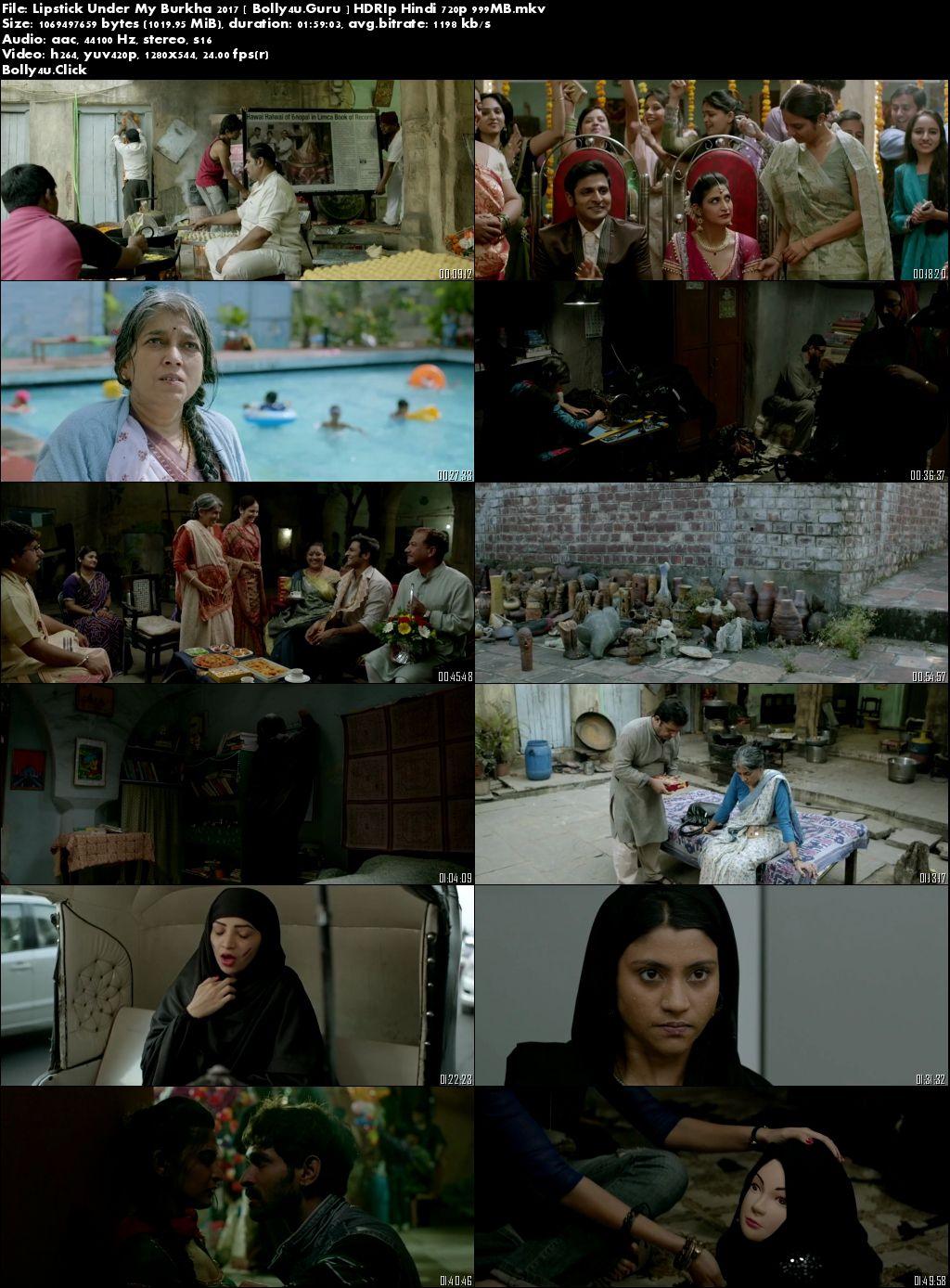 Lipstick Under My Burkha 2017 HDRip 999MB Full Hindi Movie Download 720p