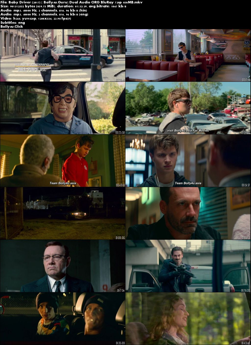 Baby Driver 2017 Hindi ORG 720p 700Mb BluRay Dual Audio Download Download