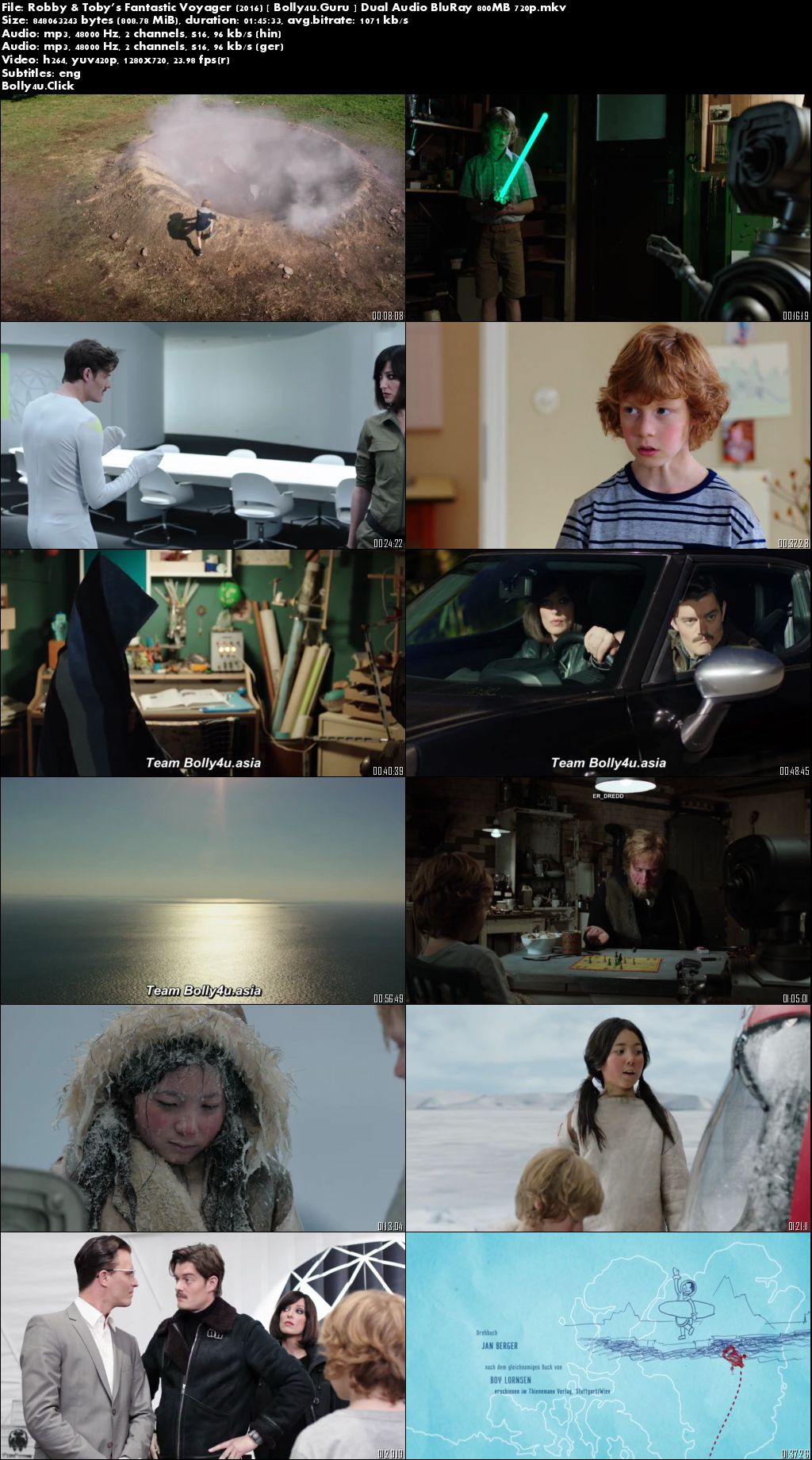 Robby and Toby's Fantastic Voyager 2016 BluRay 300MB Hindi Dual Audio 480p Download