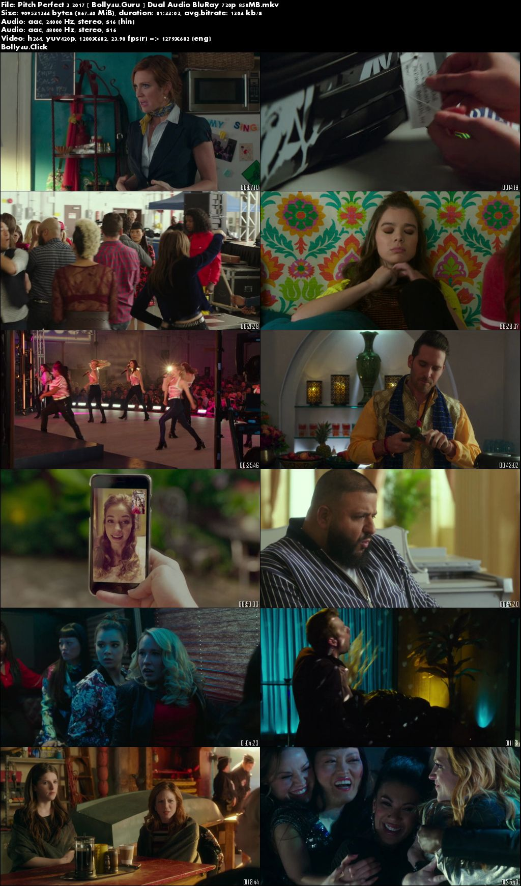 Pitch Perfect 3 2017 Hindi 480p 350Mb BluRay Dual Audio Download Download