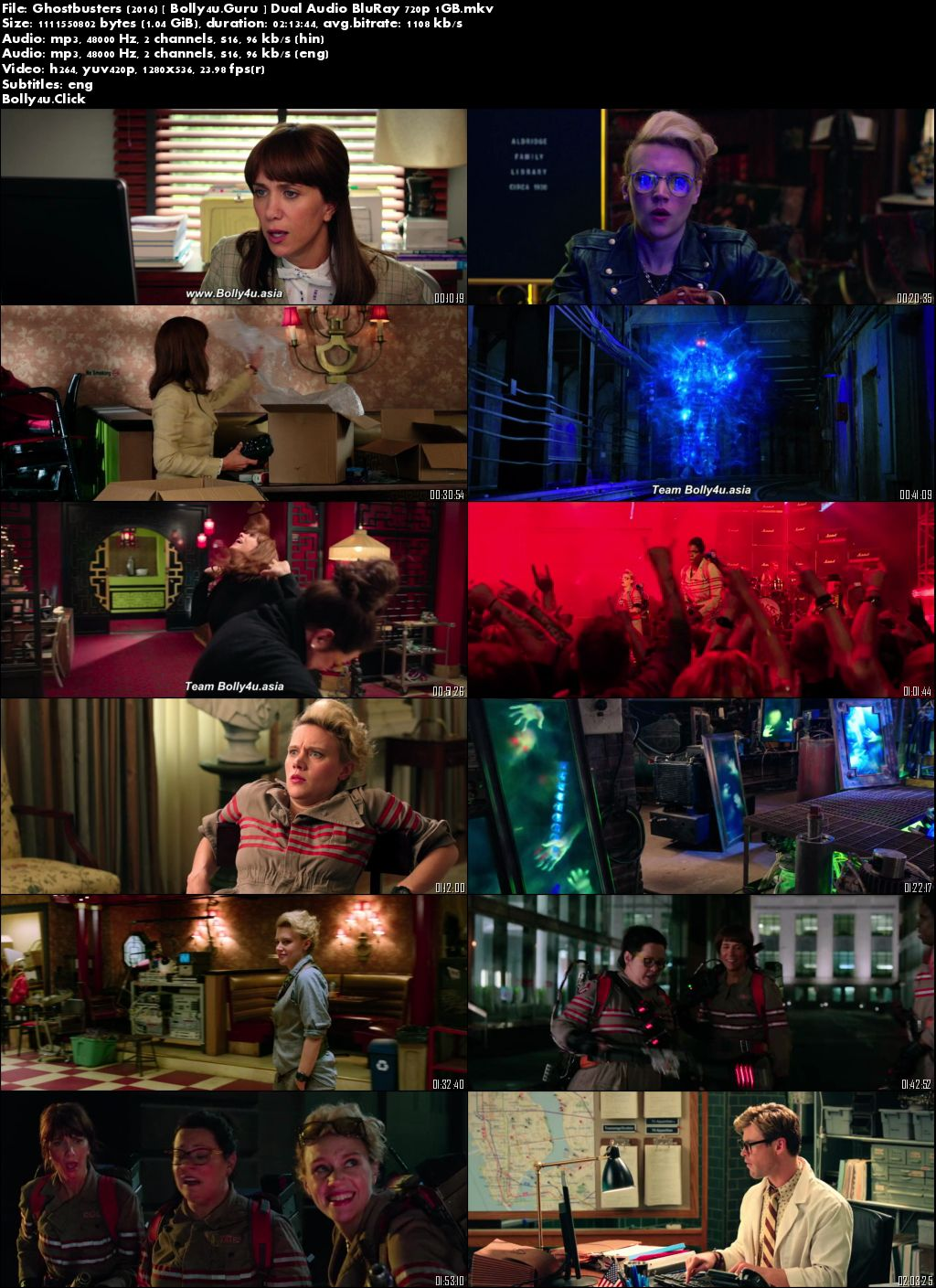 Ghostbusters 2016 BluRay 400MB Hindi Dual Audio ORG 480p Download