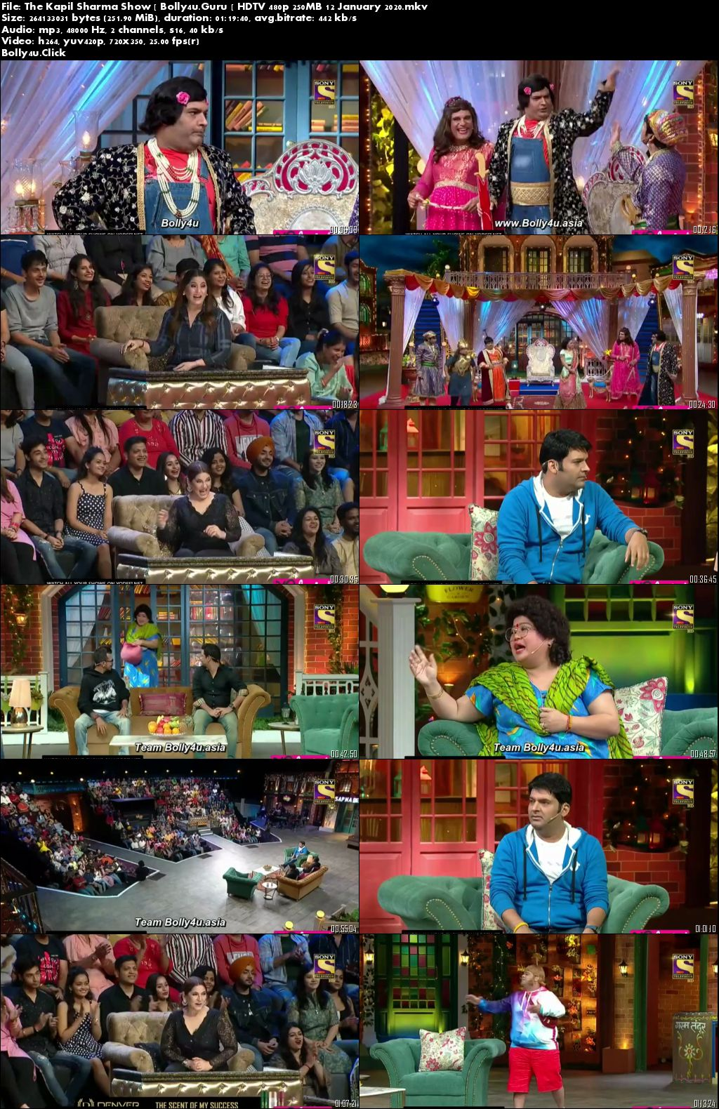 The Kapil Sharma Show HDTV 480p 250MB 12 January 2020 download