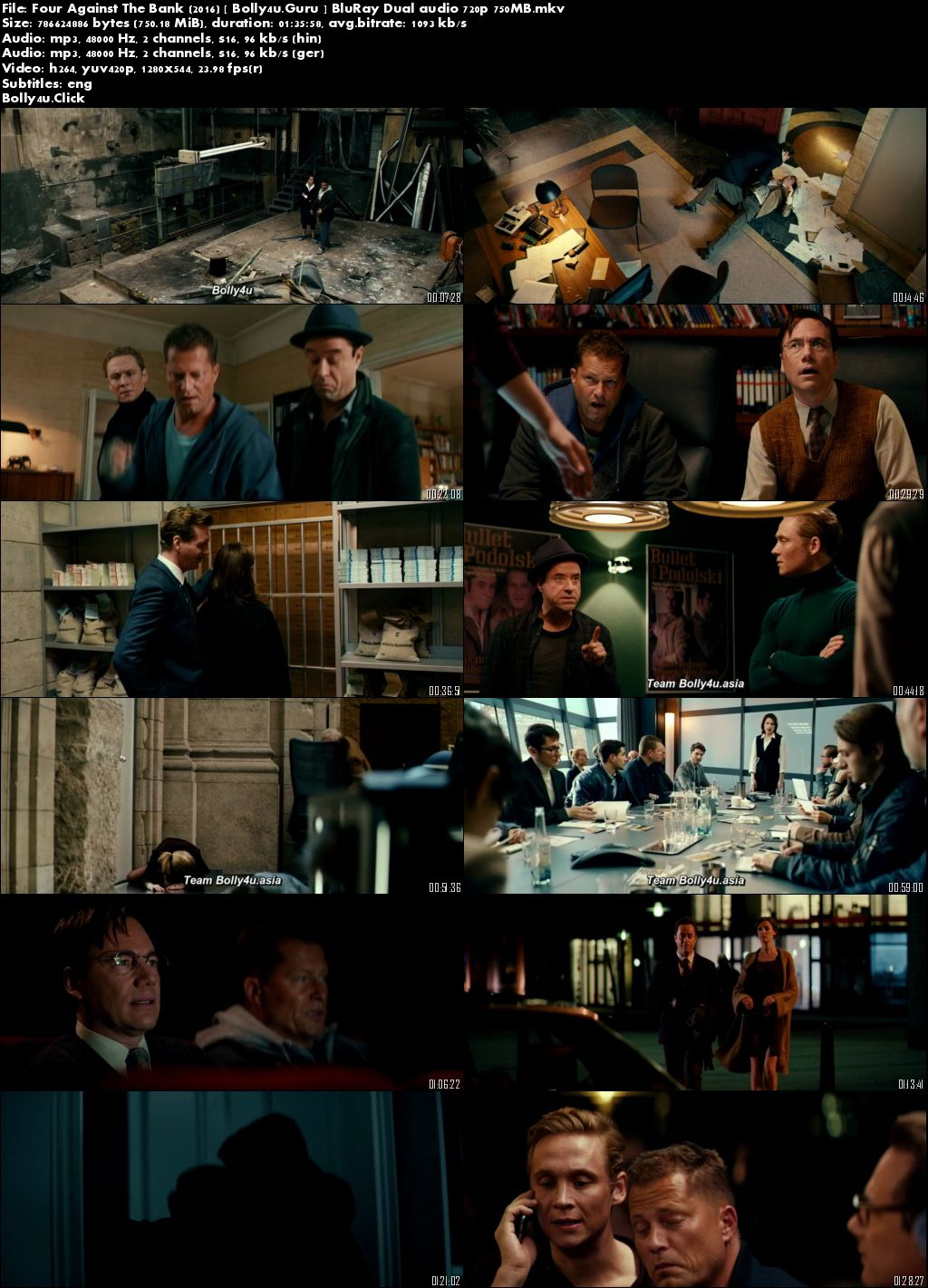 Four Against The Bank 2016 BluRay 300Mb Hindi Dual Audio 480p