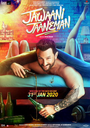 Jawaani Jaaneman 2020 Pre DVDRip 300Mb Full Hindi Movie Download 480p Watch Online Free bolly4u