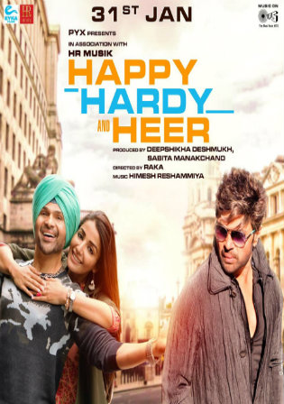 Happy Hardy and Heer 2020 Pre DVDRip 700Mb Hindi x264