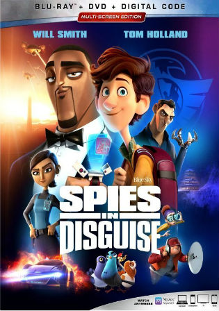 Spies in Disguise 2019 BRRip 300MB English 480p ESub