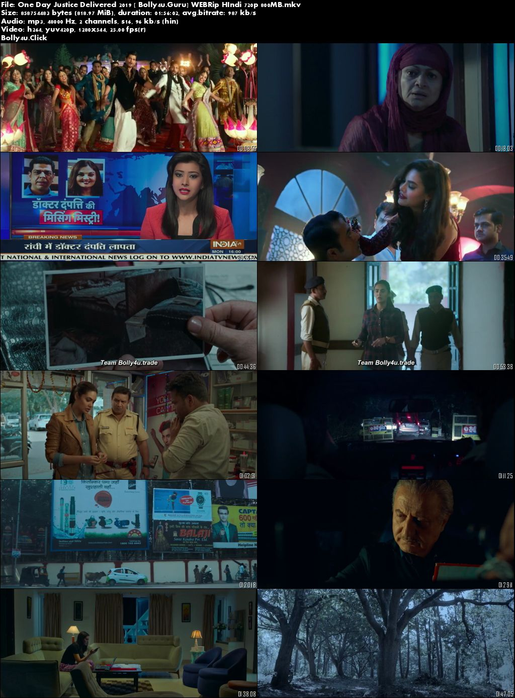 One Day Justice Delivered 2019 WEBRip 300MB Hindi 480p Download