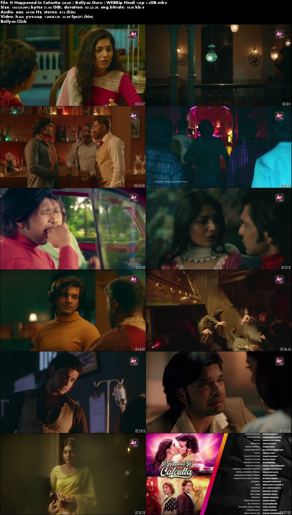 It Happened In Calcutta 2020 WEBRip 1.4GB Hindi Complete S01 Download 720p