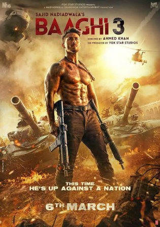Baaghi 3 2020 Pre DVDRip 1.1GB Full Hindi Movie Download 720p
