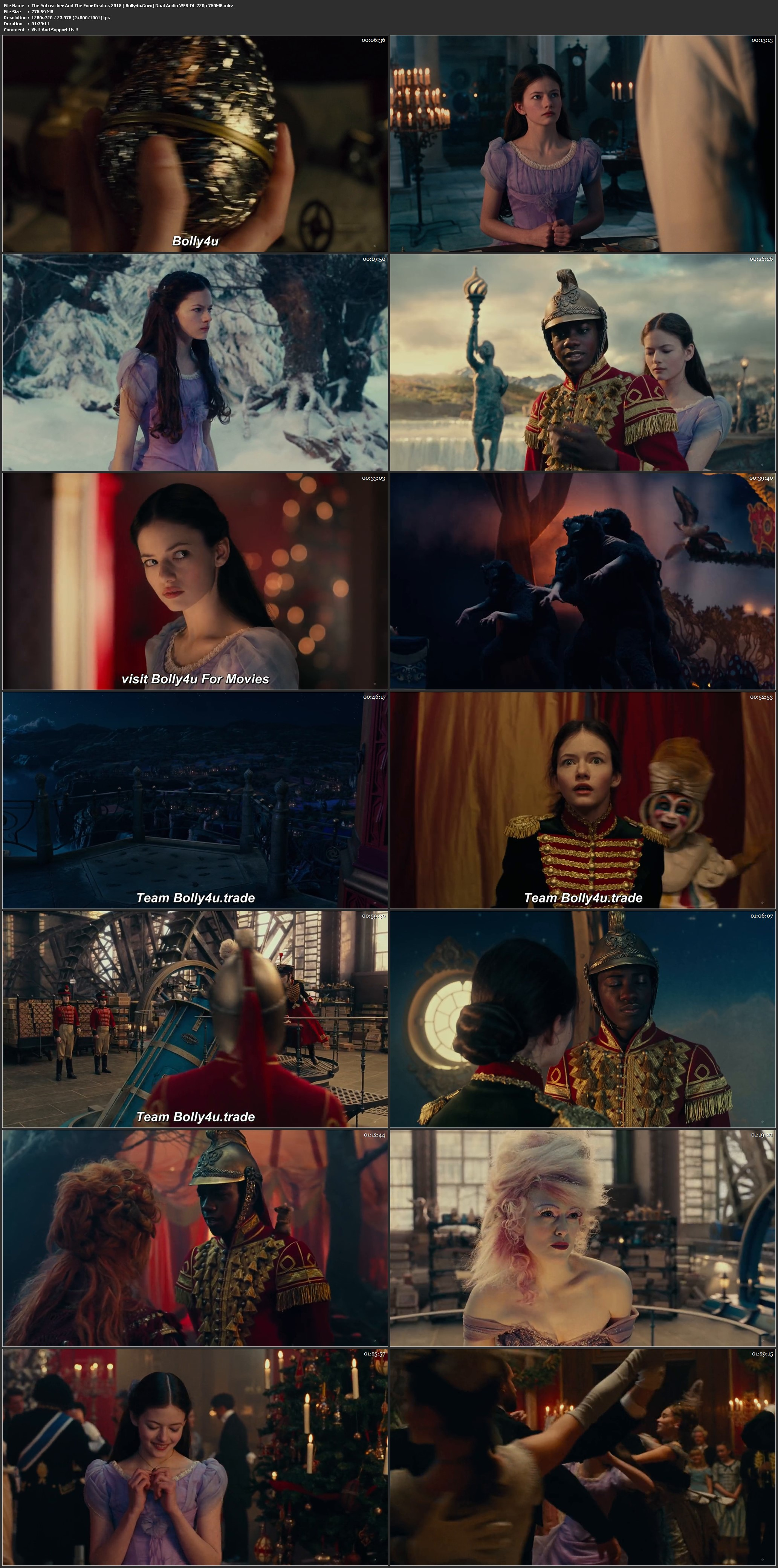 The Nutcracker And The Four Realms 2018 WEB-DL 300Mb Hindi Dual Audio 480p Download