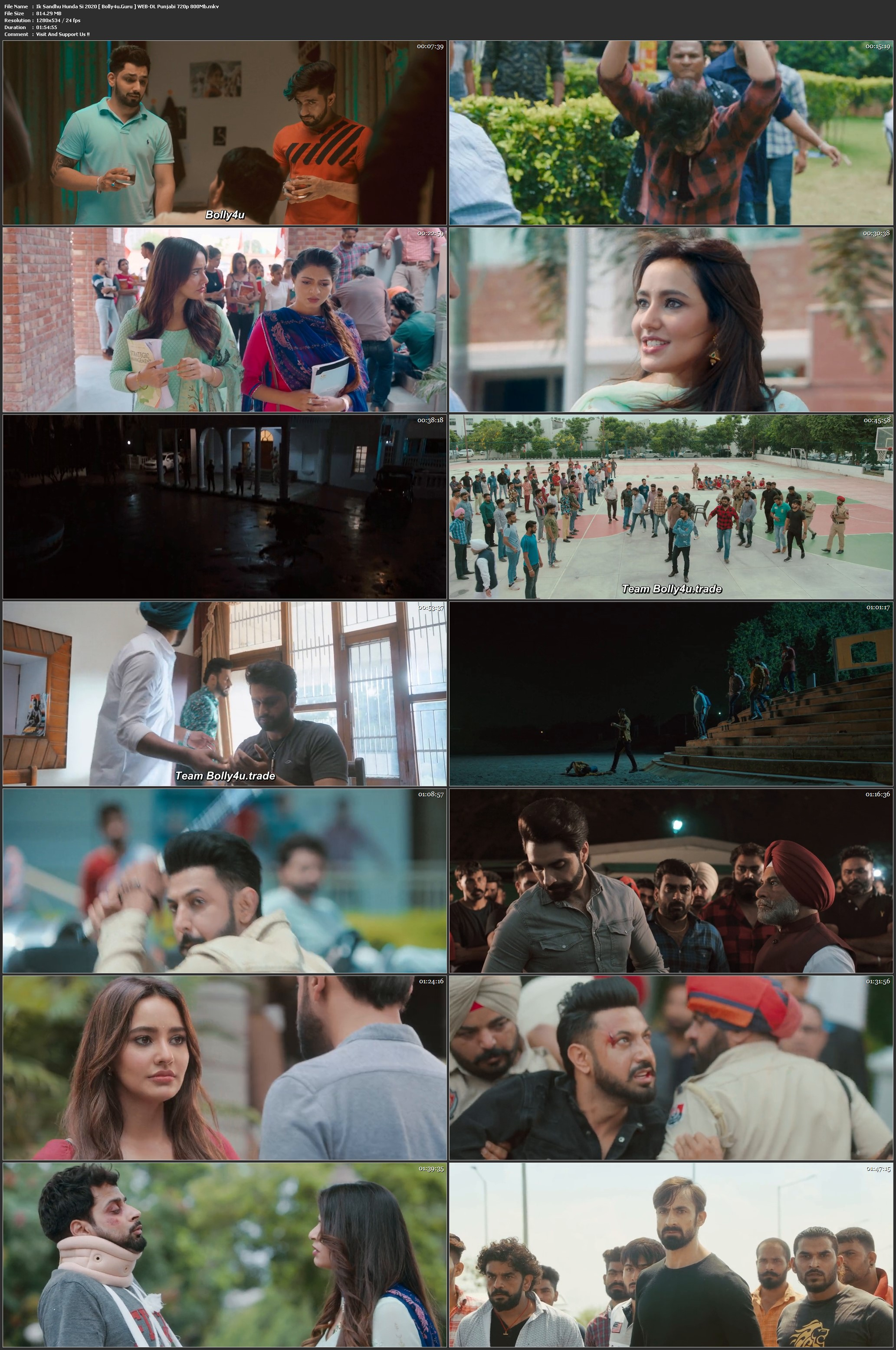 Ik Sandhu Hunda Si 2020 WEB-DL 300Mb Punjabi 480p Download