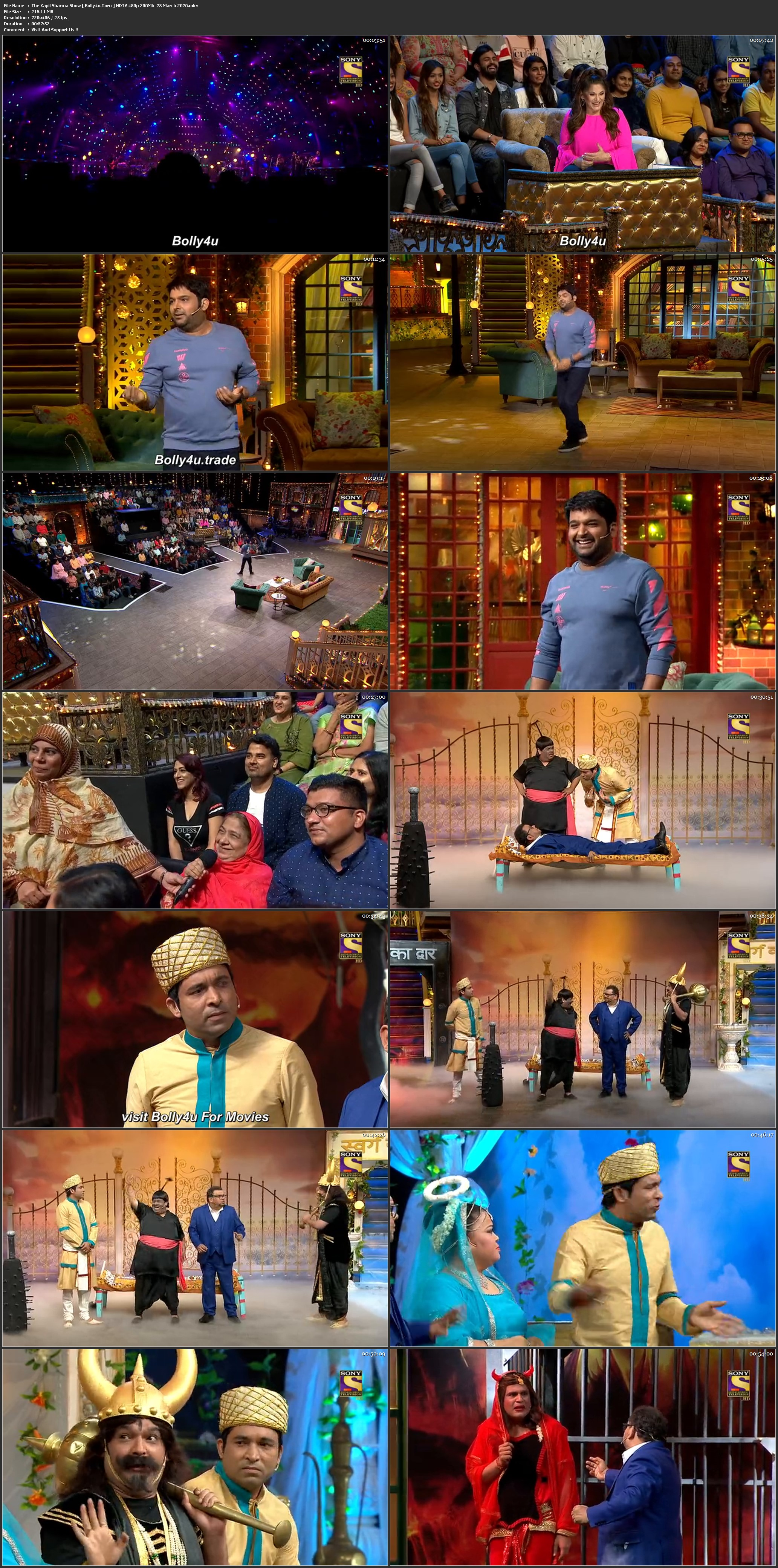 The Kapil Sharma Show HDTV 480p 200Mb 28 March 2020 Download