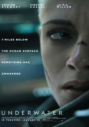 Underwater 2020 HDRip 300Mb English 480p ESub
