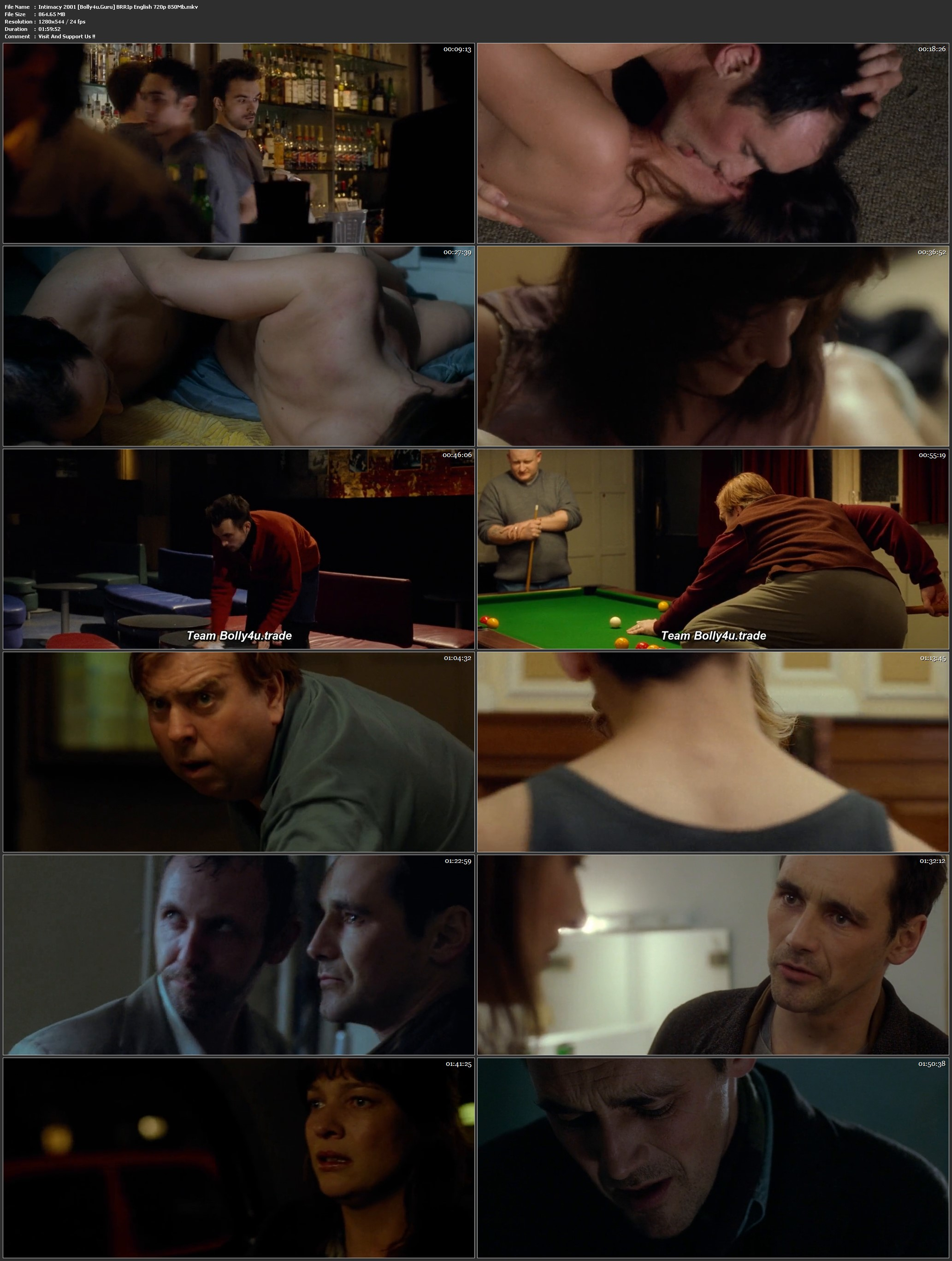 Intimacy 2001 BRRip 400Mb English 480p Download