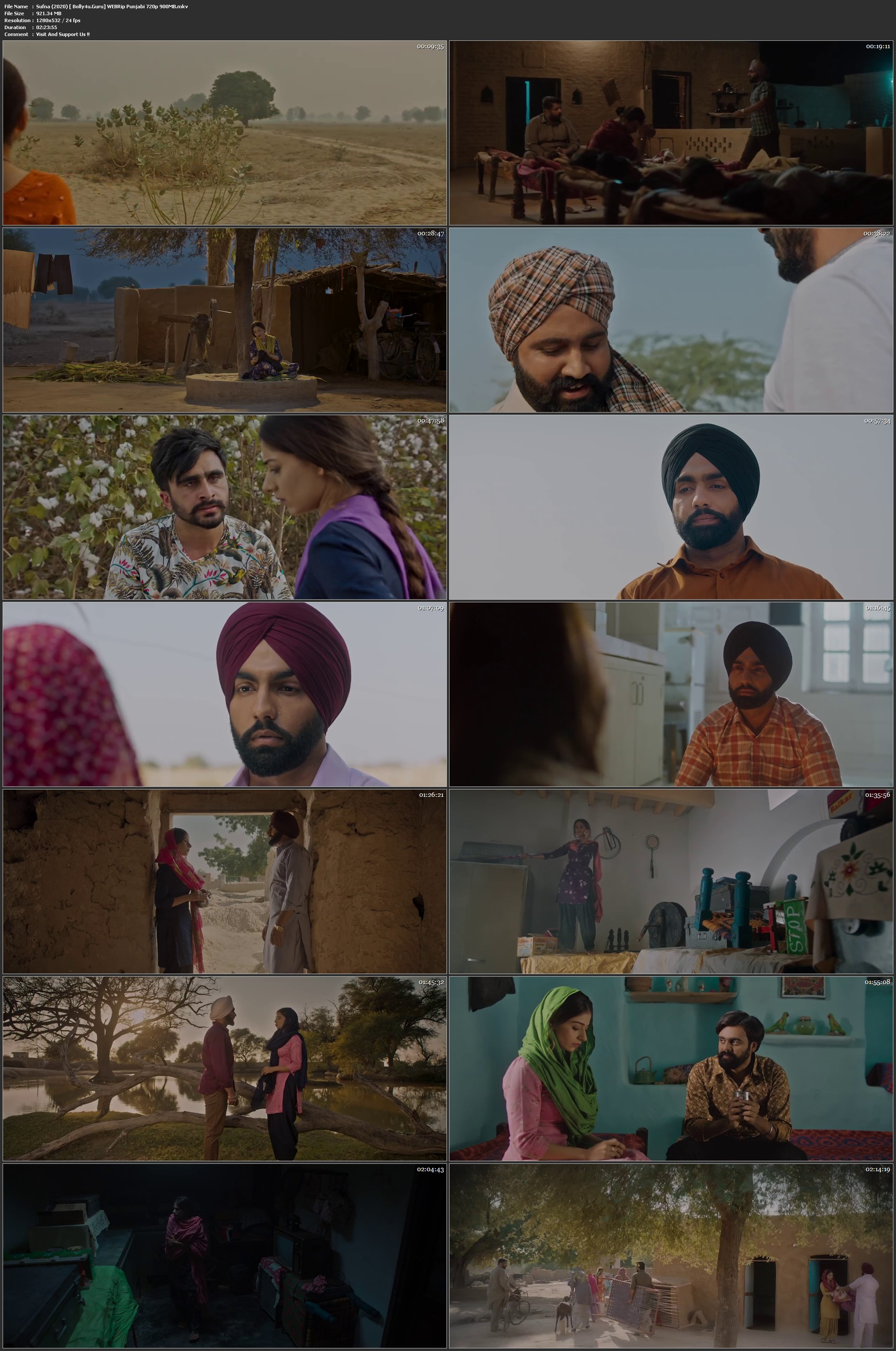 Sufna 2020 WEBRip 900Mb Punjabi 720p Download