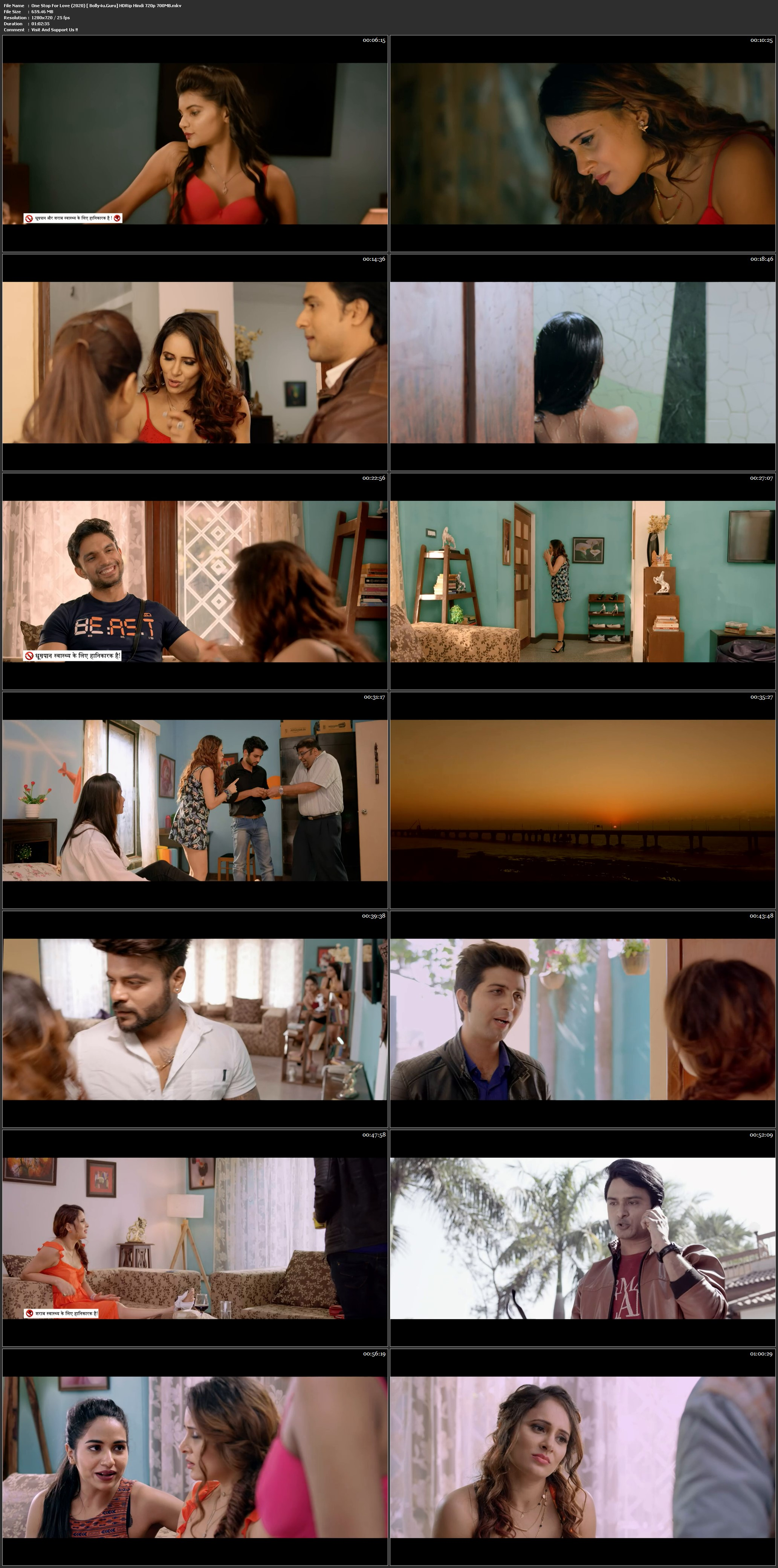 One Stop For Love 2020 HDRip 700Mb Hindi 720p Download