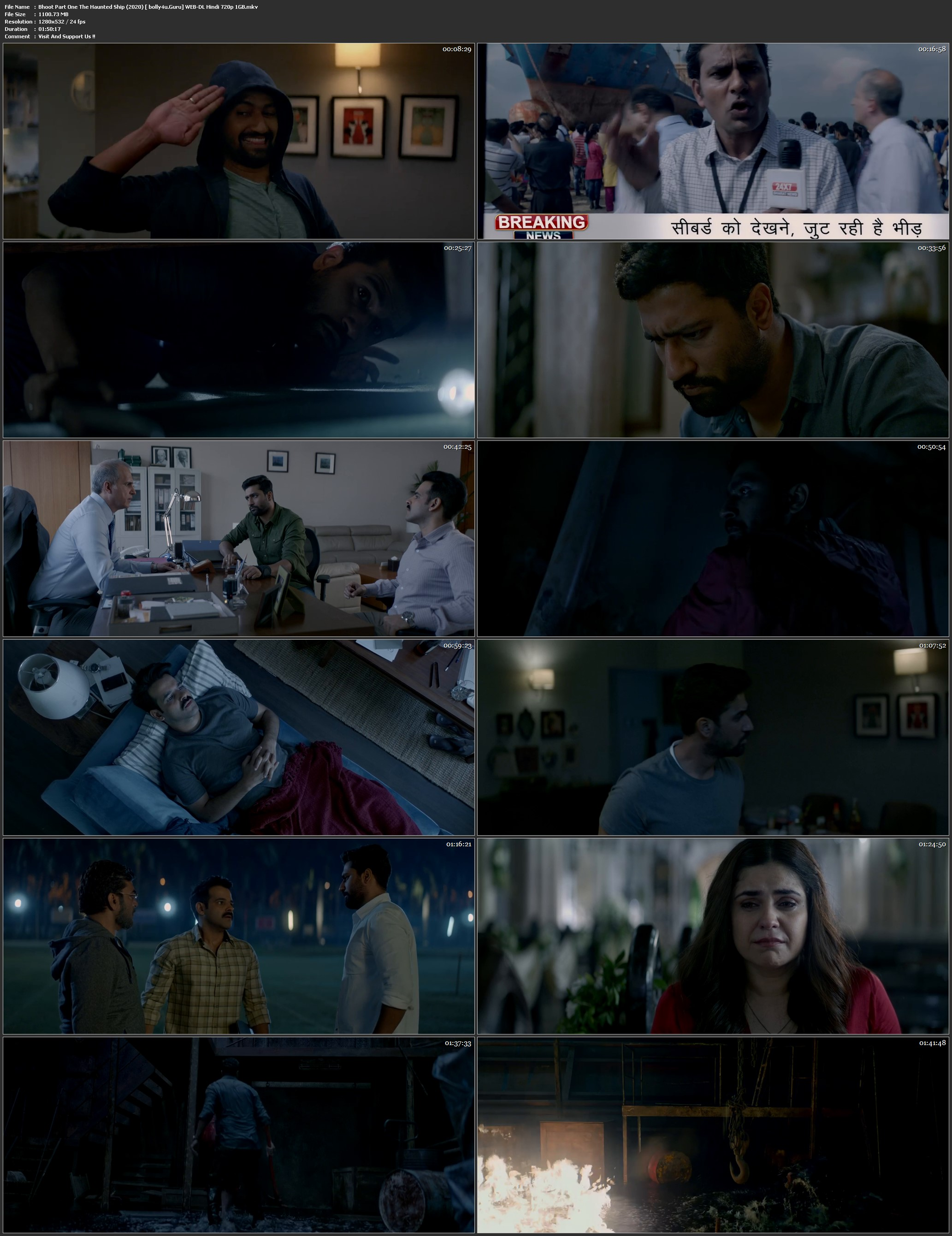 Bhoot Part One The Haunted Ship 2020 WEB-DL 300MB Hindi 480p download