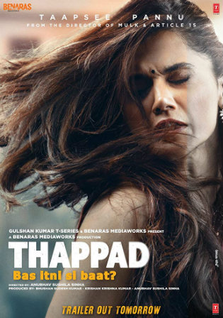 Thappad 2020 WEBRip 400MB Full Hindi Movie Download 480p