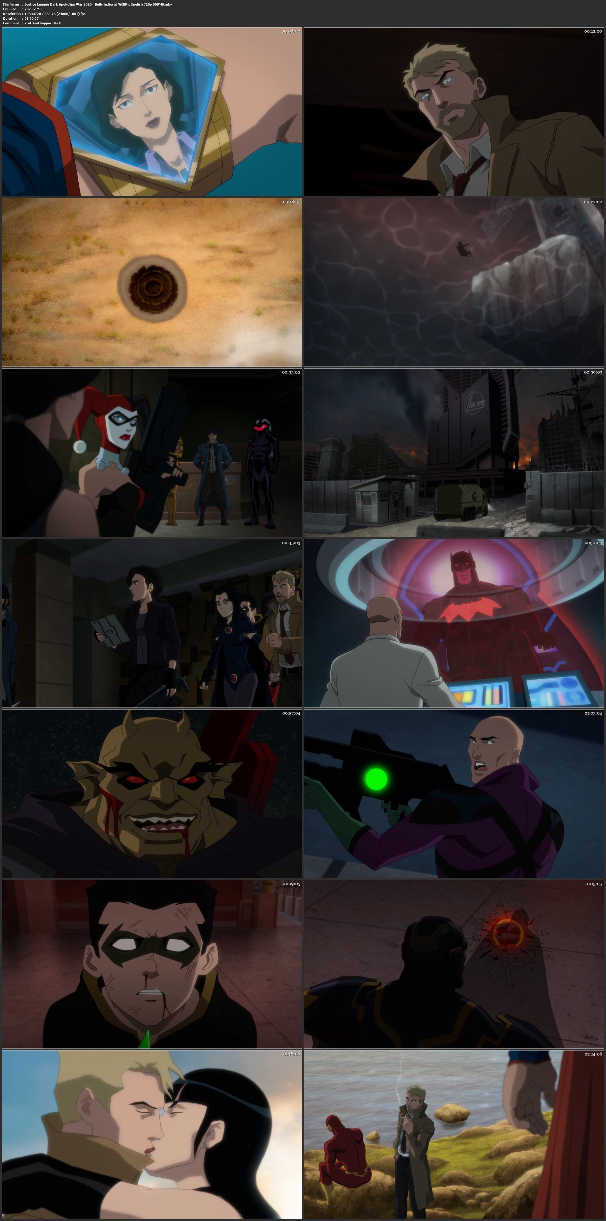 Justice League Dark Apokolips War 2020 WEBRip 800Mb English 720p ESub Download