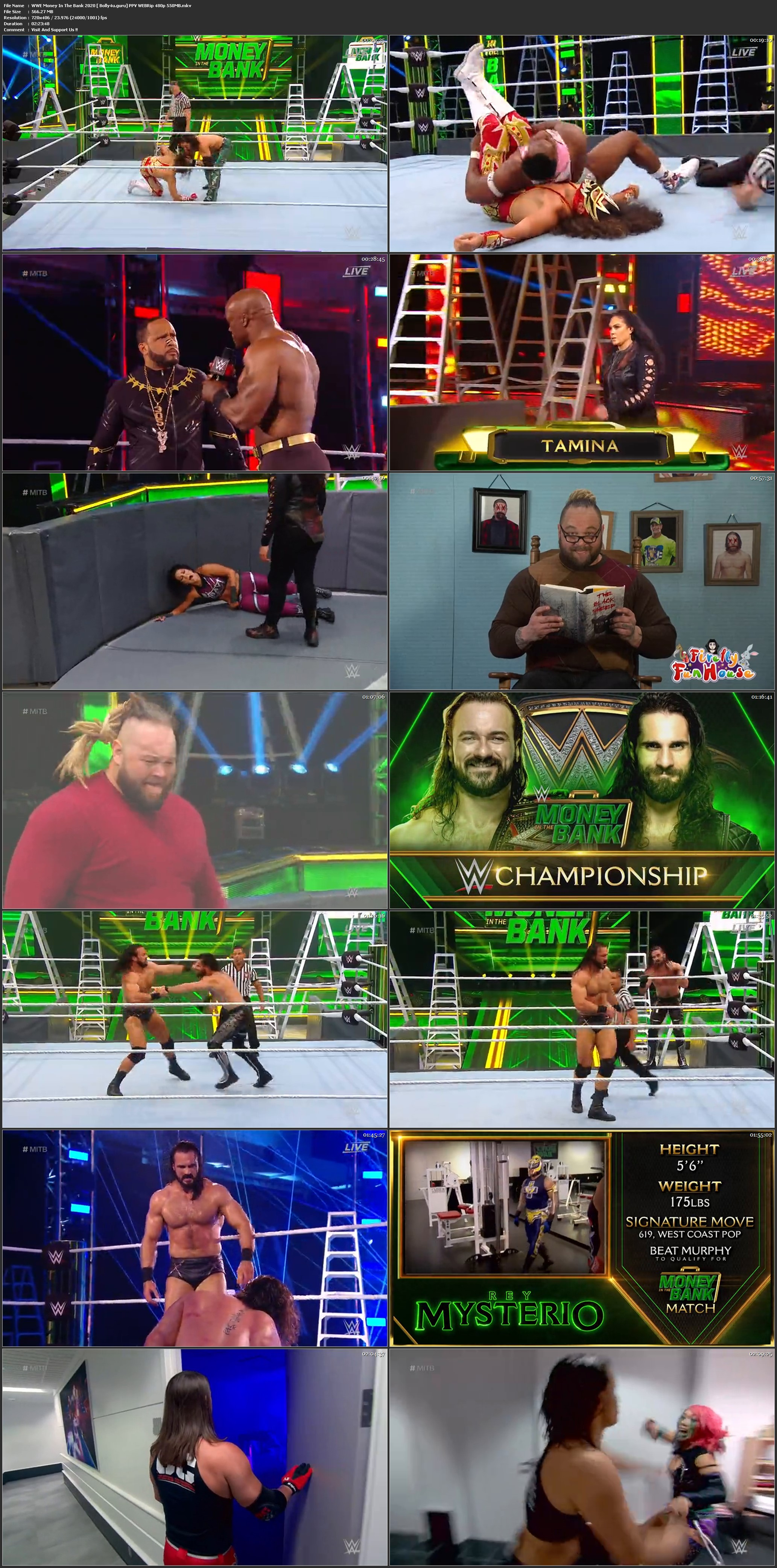 WWE Money In The Bank 2020 PPV WEBRip 480p 550MB x264 Download