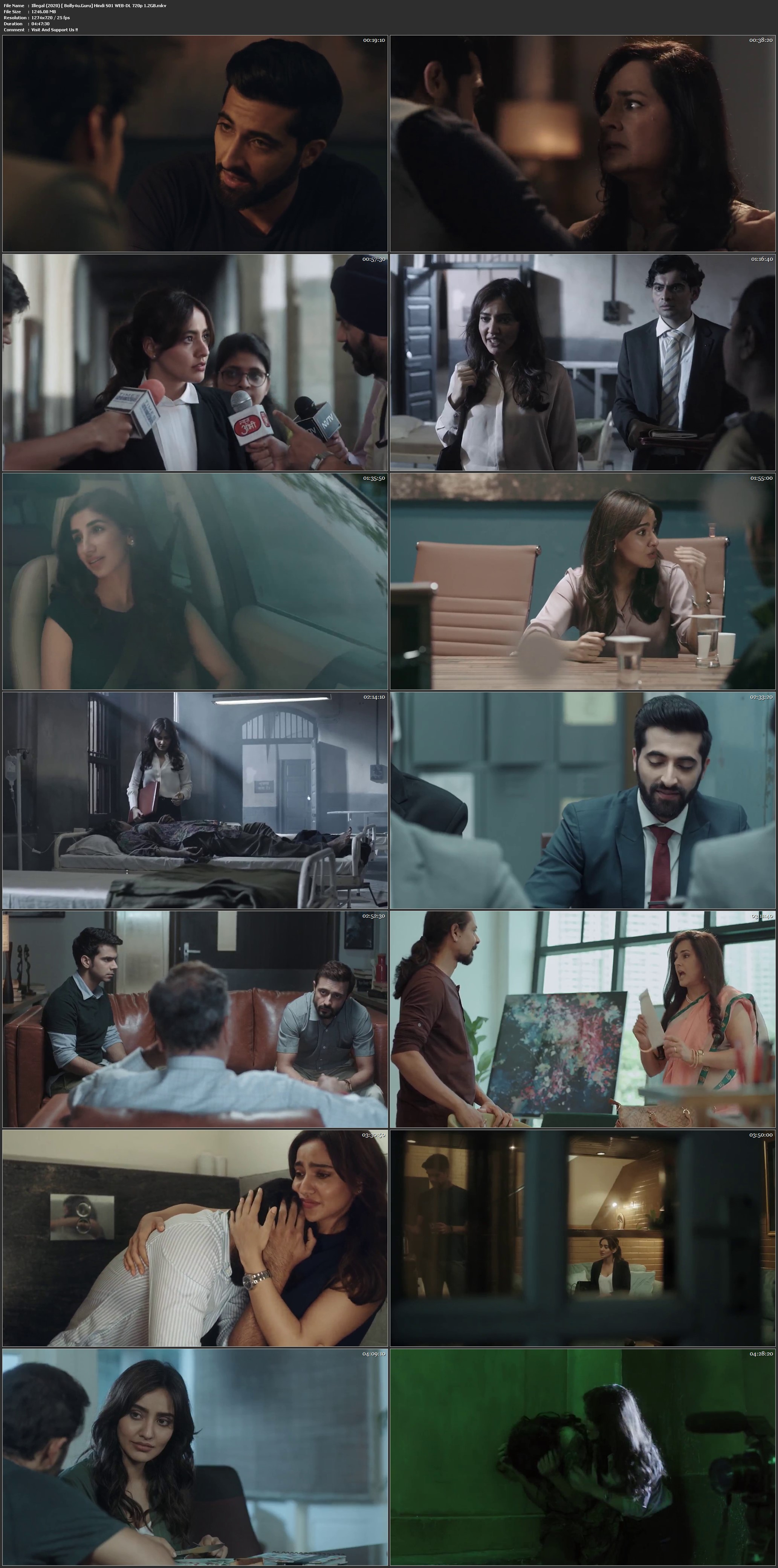 Illegal 2020 WEB-DL 1.2GB Hindi Complete S01 Download 720p