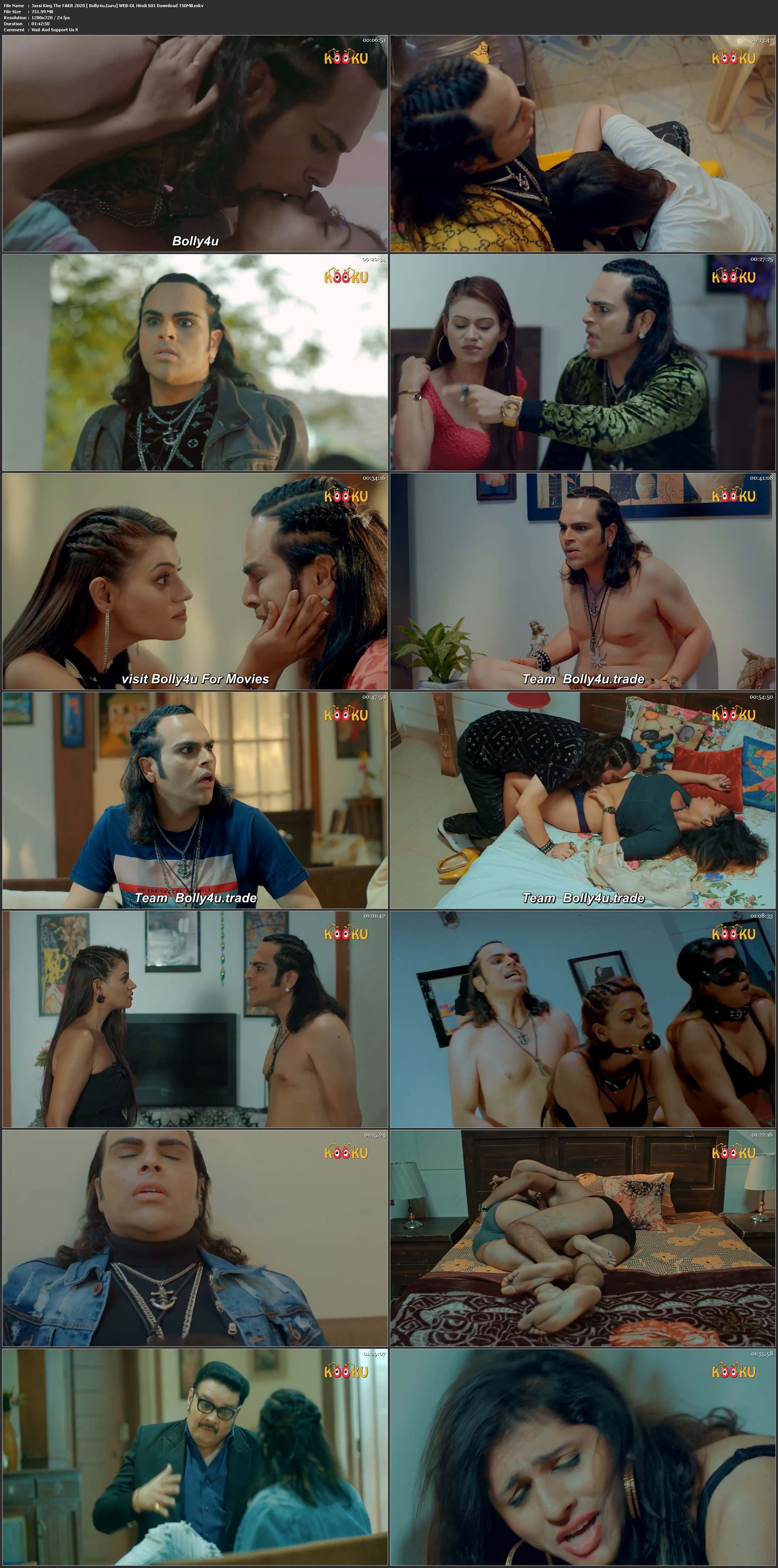 18+ Jassi King The FAKR 2020 WEB-DL 350MB Hindi Complete S01 Download 480p