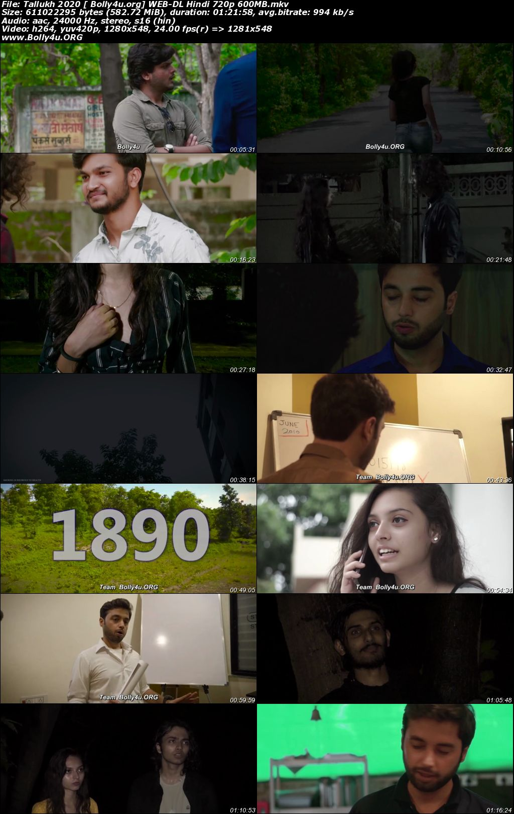 Tallukh 2020 WEB-DL 270Mb Hindi Movie Download 480p