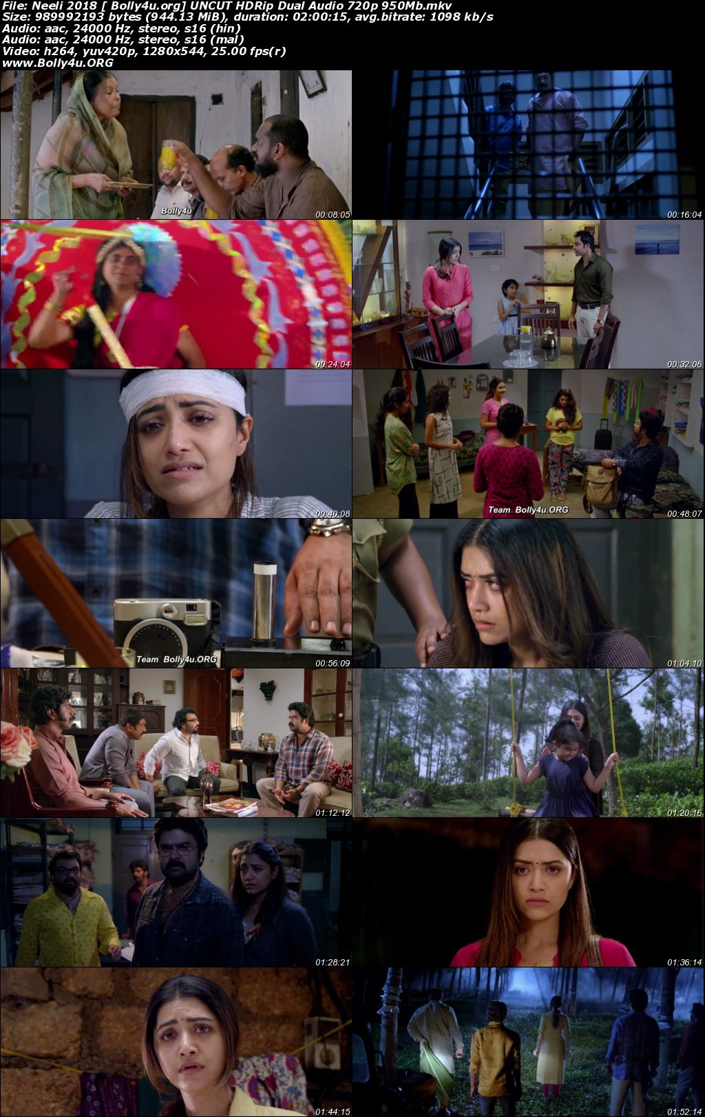 Neeli 2018 HDRip 950Mb UNCUT Hindi Dual Audio 720p Download