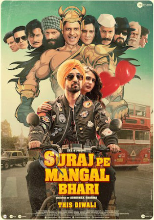Suraj Pe Mangal Bhari 2020 Pre DVDRip 400MB Hindi Movie 480p
