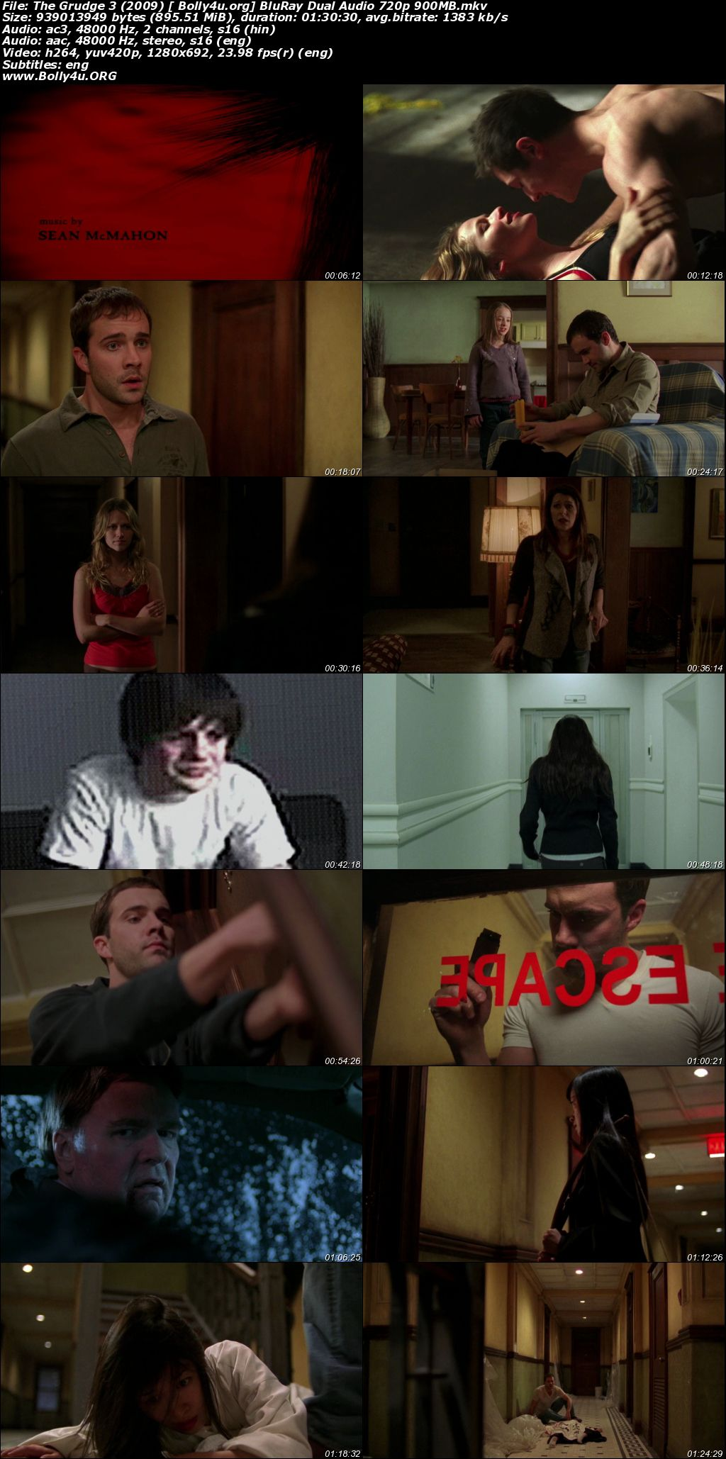 The Grudge 3 2009 BluRay 300Mb Hindi Dual Audio 480p Download