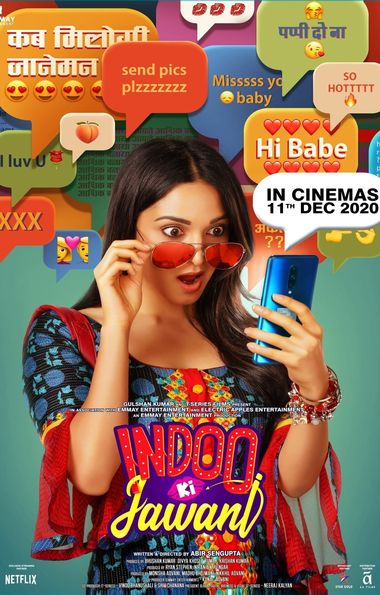 Indoo Ki Jawani (2020) Hindi PRE-DVD 720p & 480p x264 [HDCamRip] | Full Movie