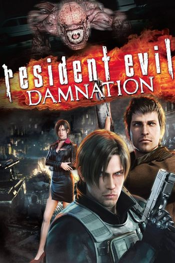 Resident Evil Damnation (2012) BluRay Dual Audio [Hindi (ORG 2.0) & English] 720p & 480p x264 HD