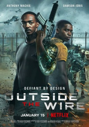 Outside The Wire 2021 BluRay 400Mb Hindi Dual Audio ORG 480p
