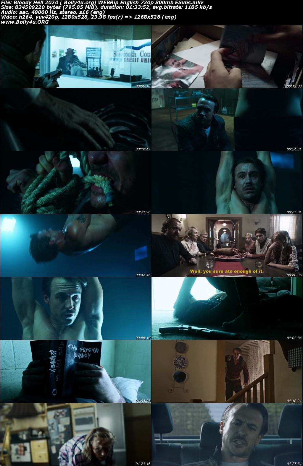 Bloody Hell 2020 WEBRip 800Mb English 720p ESubs Download