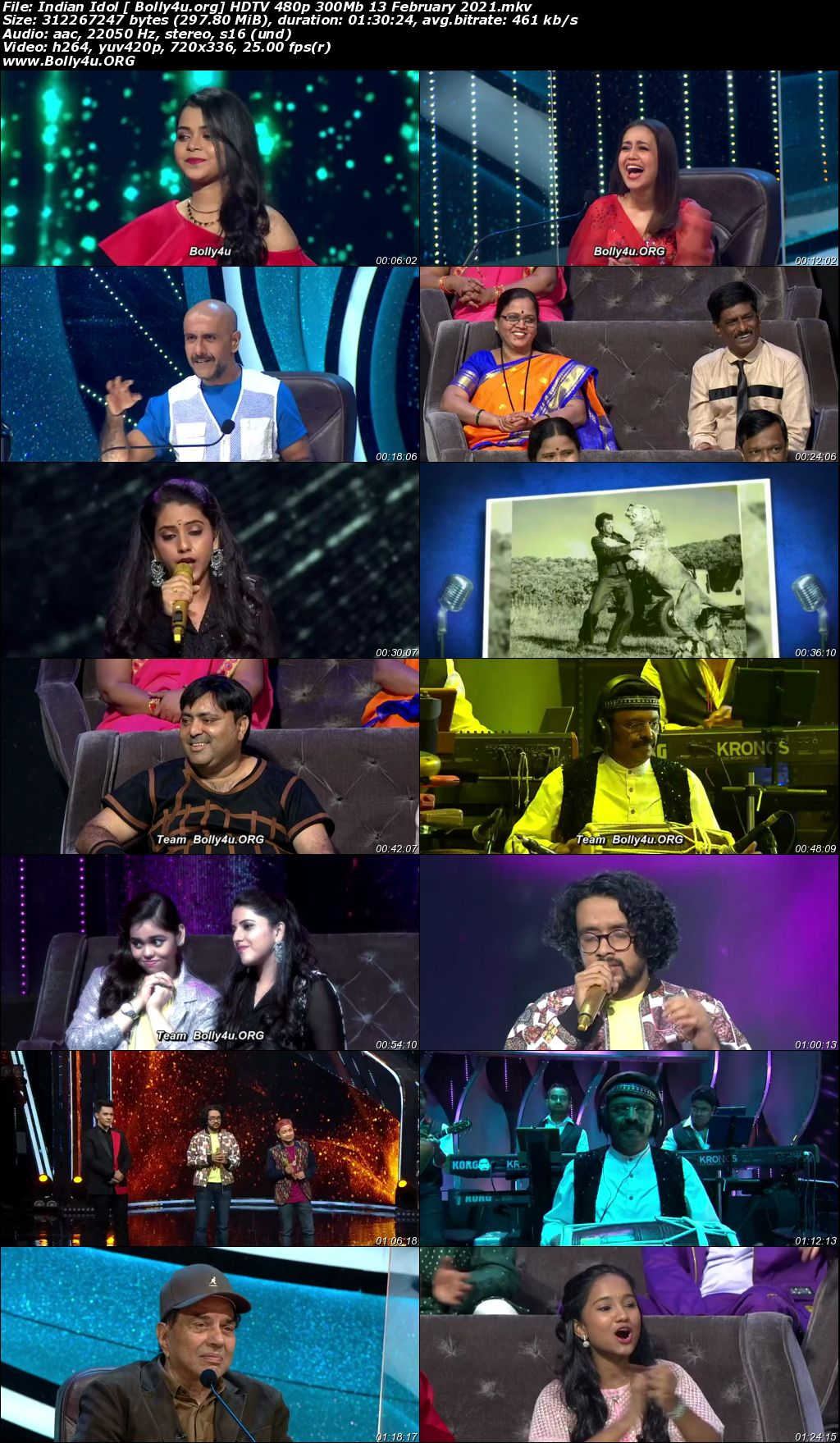 Indian Idol 2021 HDTV 480p 300Mb 13 February 2021 Download